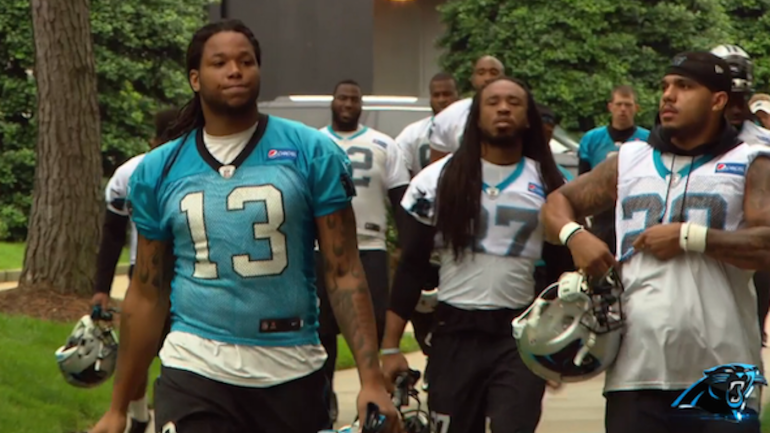 Who Is Kelvin Benjamin >> Kelvin Benjamin looks out of shape at Panthers OTAs and even he's disappointed - CBSSports.com