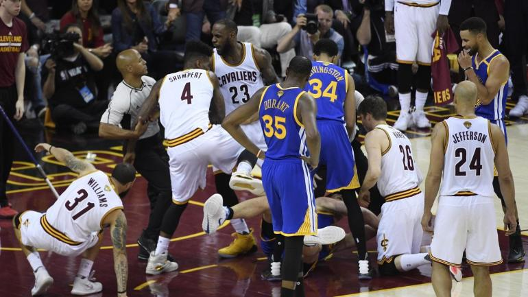 NBA Finals: No extra discipline for Pachulia or anyone else after physical Game 4