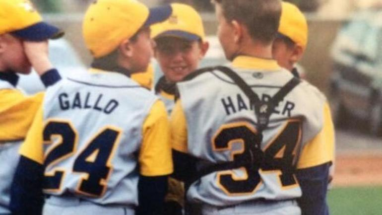 LOOK: Joey Gallo and Bryce Harper recreate Little League ...