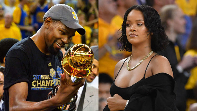 b16ad255009 Rihanna continues her war against Warriors with memes  Kevin Durant gets  last laugh - CBSSports.com