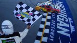 Kyle Larson holds off Chase Elliott, Joey Logano to win at Michigan