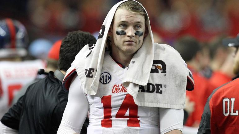 Former Ole Miss QB, current EMCC assistant Bo Wallace ...