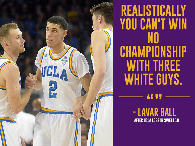 Ranking Lavar Balls Most Outrageous Quotes Cbssportscom
