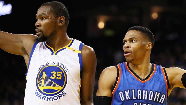 514e52f0a60 WATCH   NBA 2K18  glitch causes Warriors  Kevin Durant to celebrate with  Thunder - CBSSports.com