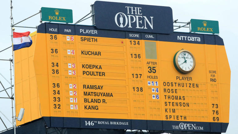 2017 british open leaderboard breakdown  scores  round 3
