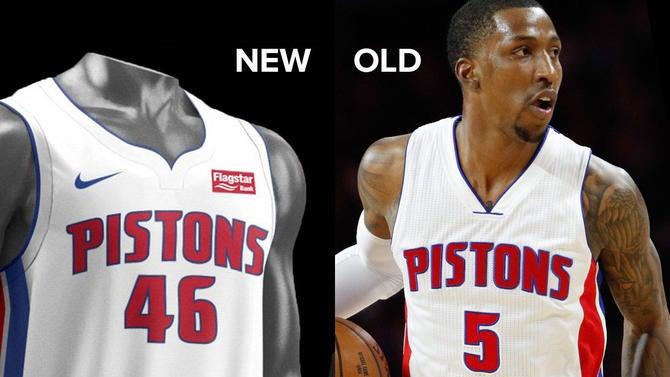 LOOK  Pistons unveil new Nike uniforms b6dde3799