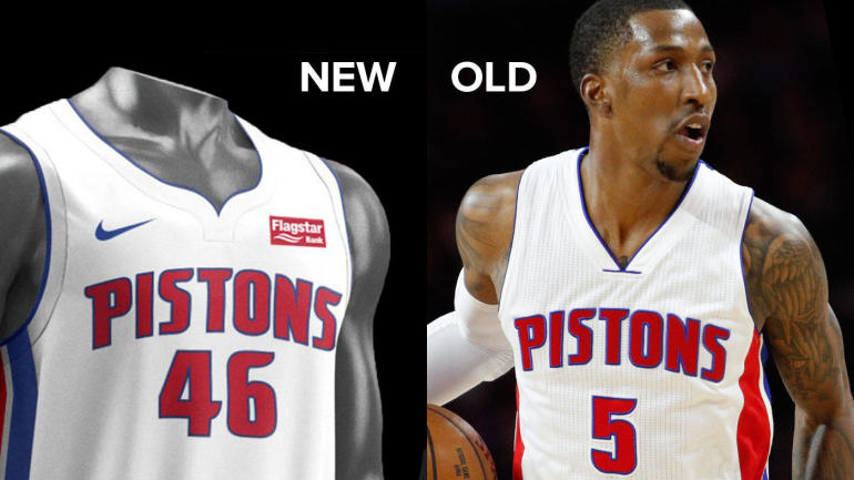 LOOK: Pistons unveil new Nike uniforms, jersey sponsor for ...