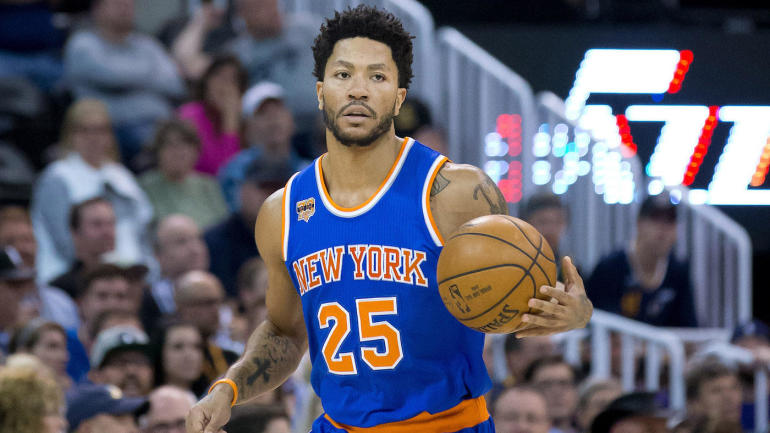 fafb15b39de2 Derrick Rose fought back tears when he was traded to Knicks from Bulls
