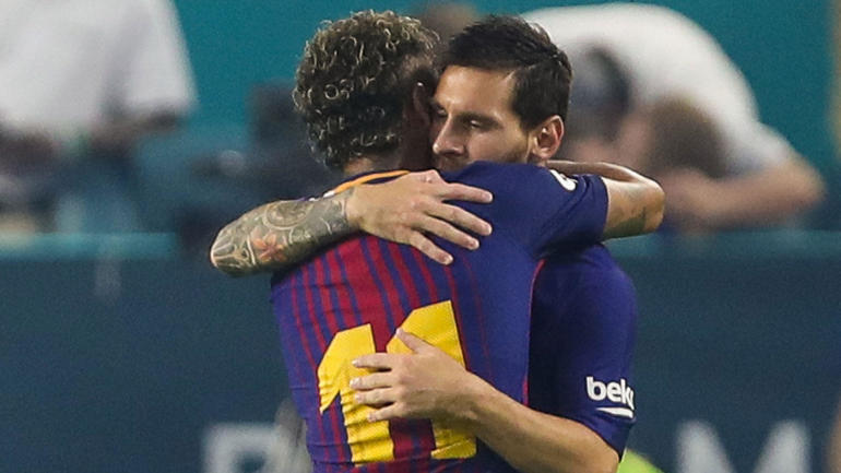 lionel messi says goodbye to neymar via touching instagram