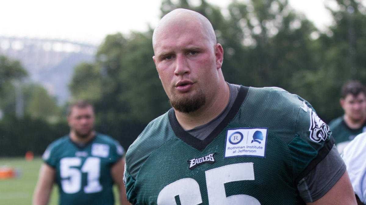 30cea3509b7 Eagles' Lane Johnson raises $55K for Philadelphia schools with underdog T- shirts - CBSSports.com