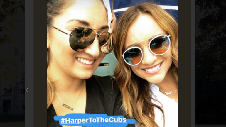 Wives of Kris Bryant, Bryce Harper fanning the flames of Harper-to-Cubs rumors