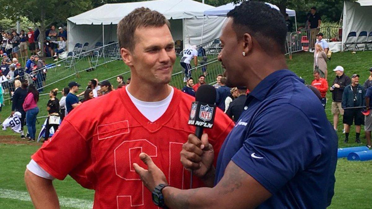 LOOK: Tom Brady suspiciously wears Patriots jersey inside out for ...