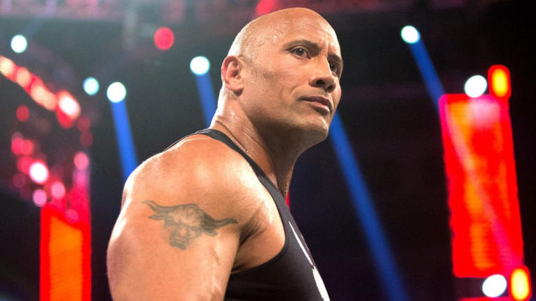 Look The Rock Inexplicably Got Rid Of His Famous Brahma Bull Tattoo