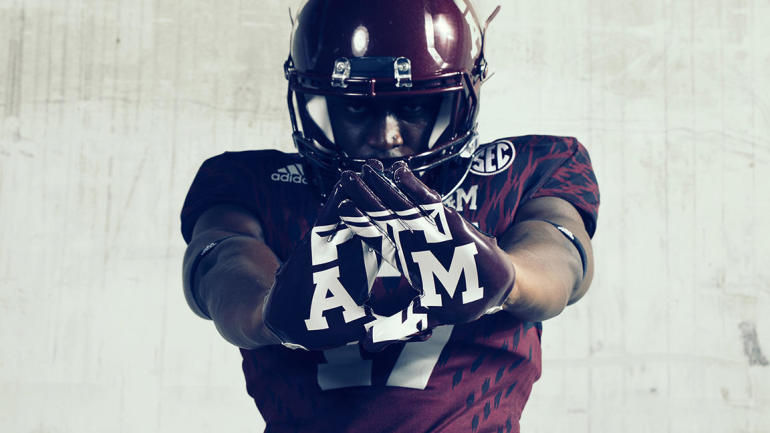 "LOOK: Texas A&M shows off ""Bright Lights"" alternates for Mississippi State game - CBSSports.com"