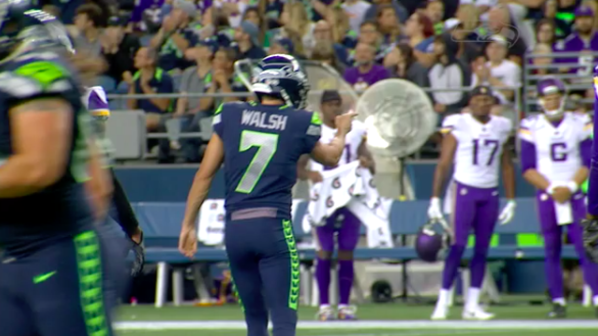 Seahawks kicker Blair Walsh says he had a good reason for