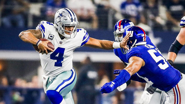 2017 College Football Bowl Bracket >> Giants vs. Cowboys score, highlights, stats: Dak Prescott, Dallas D dominate New York ...