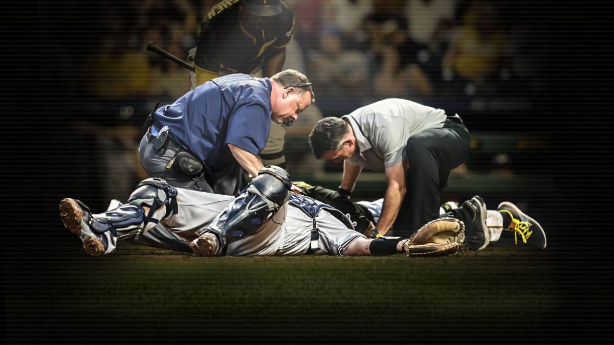 sports shoes 9a49b bd1e9 The year of catcher concussions and MLB s battle to do better with head  trauma - CBSSports.com