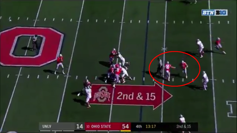 Look Ohio State Wide Receivers High Five While Running