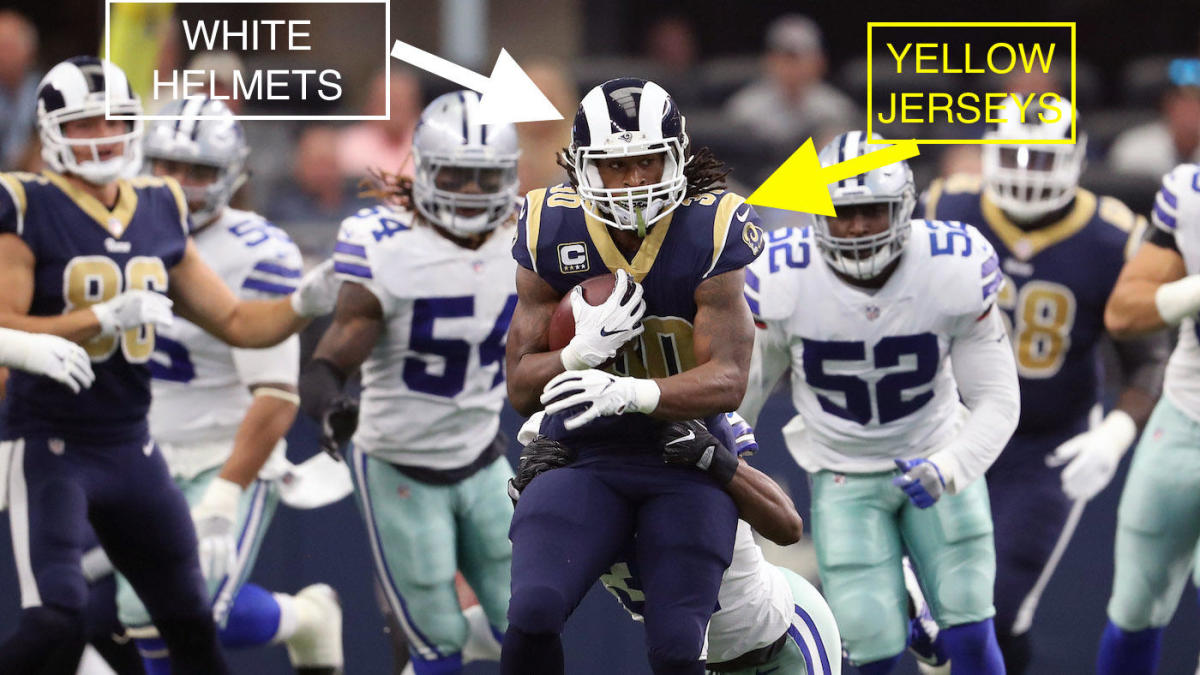 f904864d LOOK: Twitter can't stop making fun of the Rams' hideous mismatched uniforms  - CBSSports.com