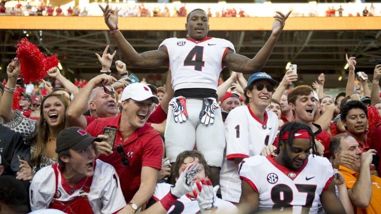 Cbs Sports 130 College Football Rankings Georgia Moves