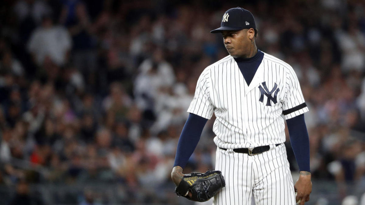 Yankees closer Aroldis Chapman denies report saying he will definitely opt out of contract after 2019 season