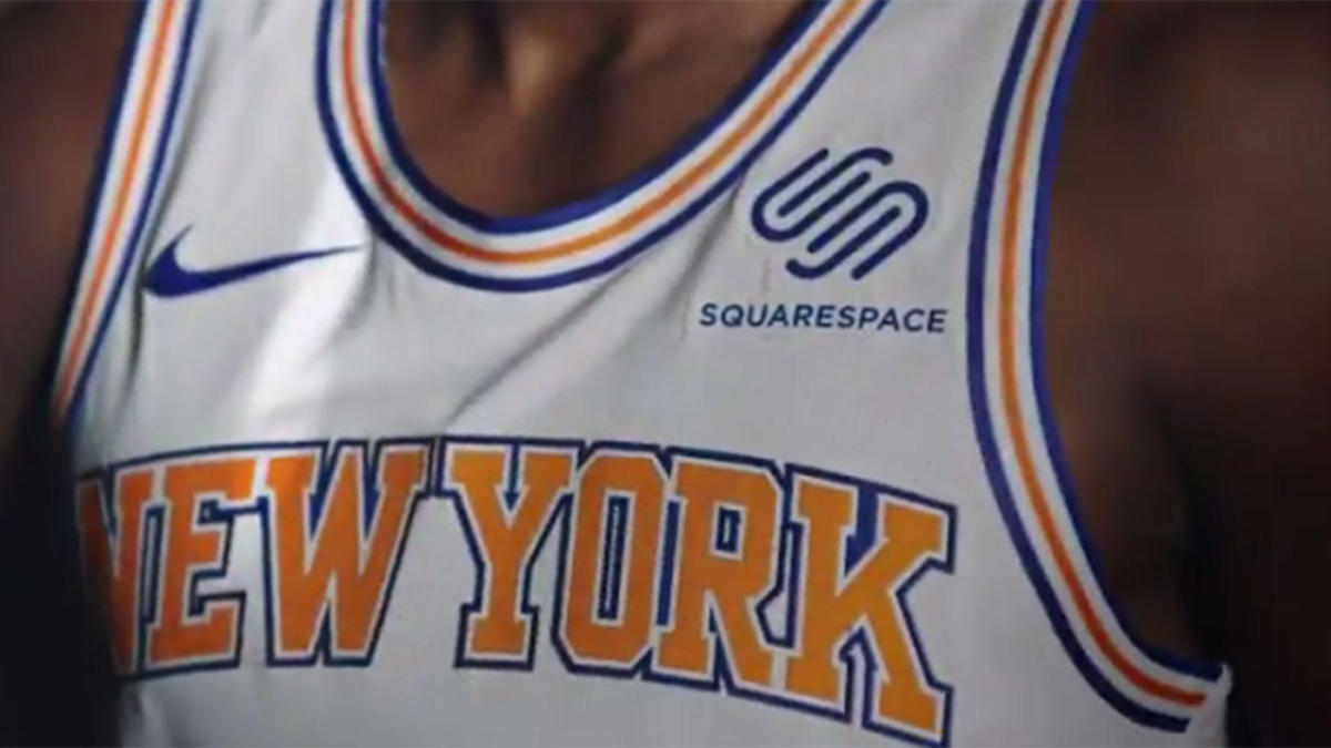 best sneakers e68ab 8ff4a WATCH: Knicks announce 2017-18 jersey sponsor with hopeful ...