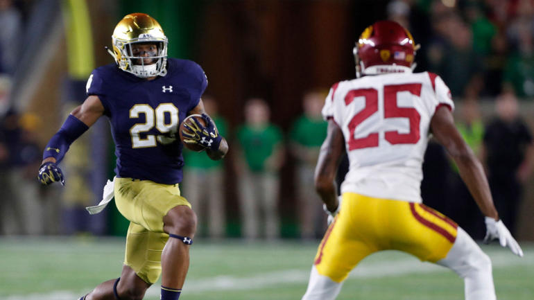 College Football Scores Schedule 2017 Notre Dame Dominates Usc In