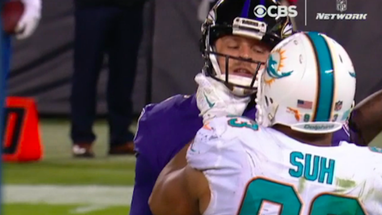Ndamukong suh reportedly wont be suspended for throat grab against ndamukong suh reportedly wont be suspended for throat grab against ravens player cbssports voltagebd Images