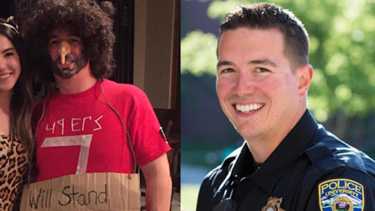 Cop wonu0027t be punished for controversial Colin Kaepernick Halloween costume - CBSSports.com  sc 1 st  Cheers.ws & Hockey cop wont punished controversial colin kaepernick halloween ...