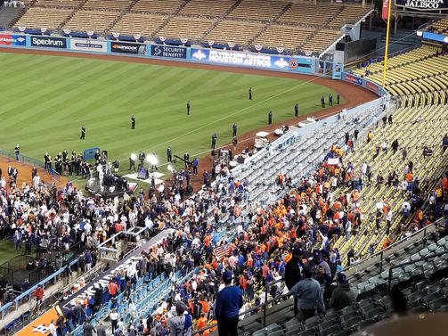 WATCH: Celebrate with Astros fans at Dodger Stadium after 2017 World Series win