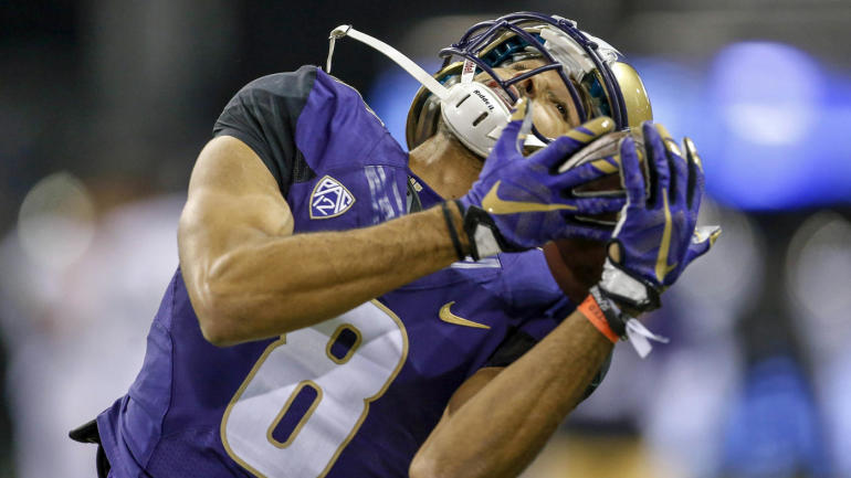 Dante Pettis breaks NCAA record with ninth career punt ...