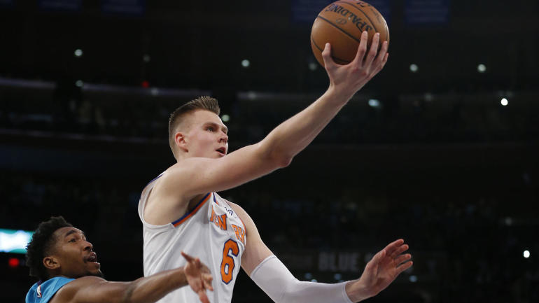 dbe166003177 Kristaps Porzingis speaks out following ACL injury   I m going to come back  better  - CBSSports.com