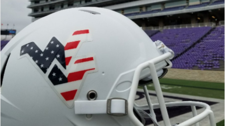 LOOK  College football teams pay tribute to Veterans Day with special  uniforms - CBSSports.com 7093d9c15