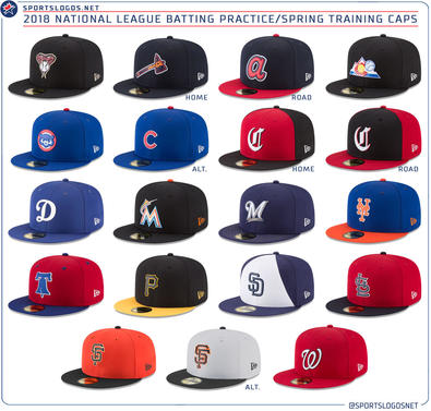2c6a9975643 LOOK  MLB unveils 2018 spring training hats for all 30 teams ...