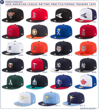 LOOK  MLB unveils 2018 spring training hats for all 30 teams ... 94dc6f4761b