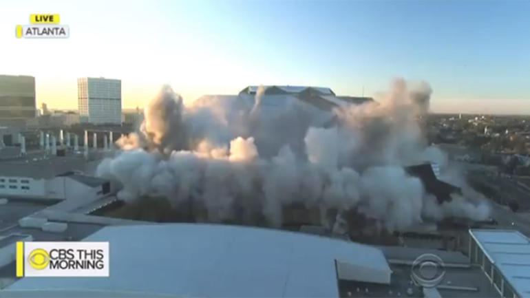 WATCH: Atlanta's Georgia Dome implodes in seconds after 25 years of games