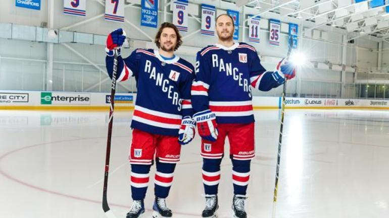 LOOK  New York Rangers unveil vintage jerseys for 2018 Winter Classic vs.  Sabres - CBSSports.com 142ade339b9