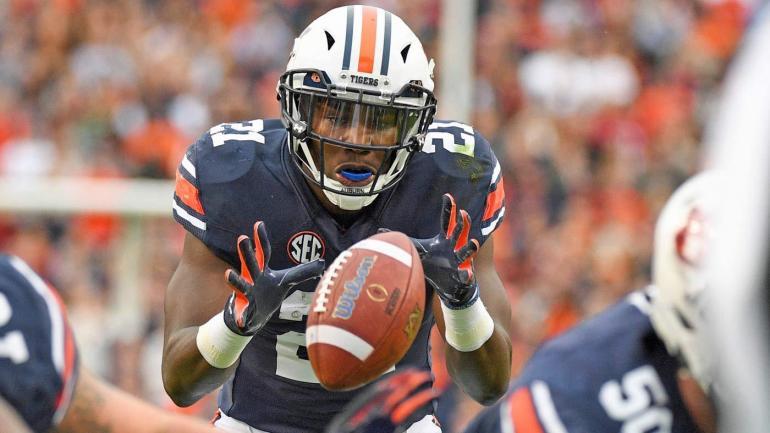 Top 25 College Standings >> Auburn star rusher Kerryon Johnson trending upward for SEC title game - CBSSports.com