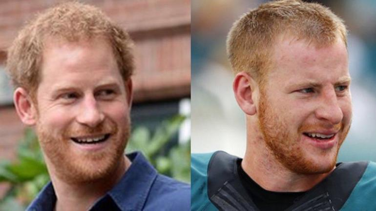 LOOK: The internet is convinced Carson Wentz and Prince Harry are the same person