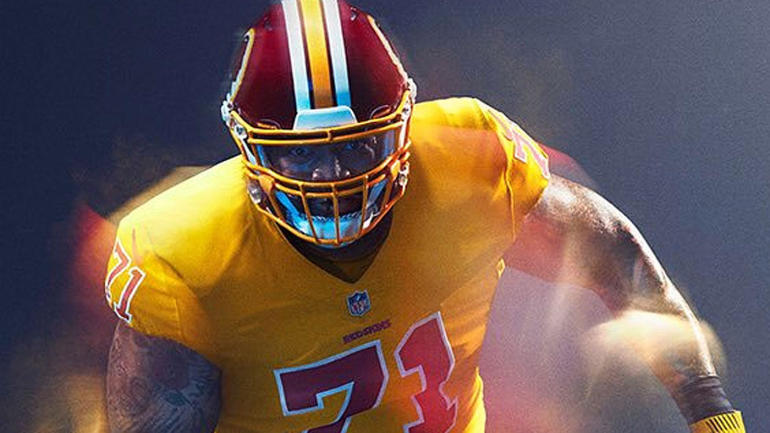 Heres why redskins wont be punished for ditching their gold color heres why redskins wont be punished for ditching their gold color rush uniforms cbssports voltagebd Image collections