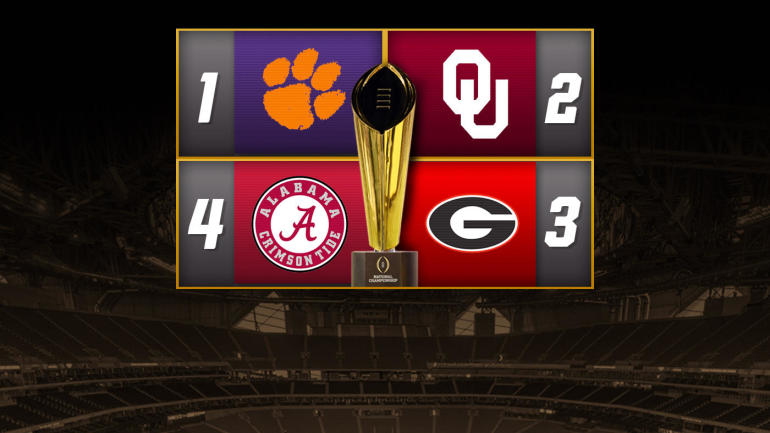 College Football Playoff games, schedule: Alabama snags final spot over Ohio State