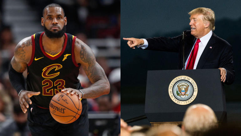 c4dbb9ca23e2 LOOK  LeBron s tweet calling Trump a bum is the most retweeted athlete post  in 2017 - CBSSports.com