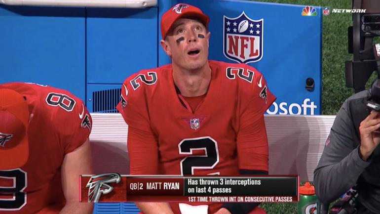 WATCH: Matt Ryan melts down, throws three interceptions in ...