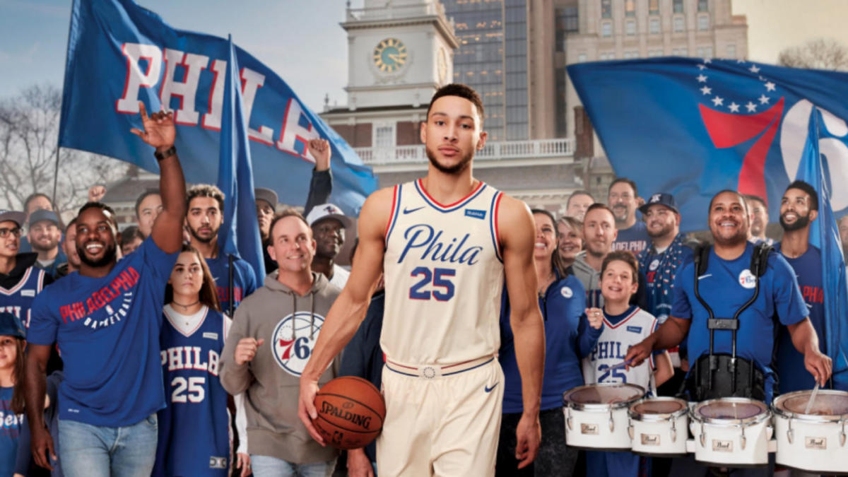 online retailer c867f bcd68 LOOK: Philadelphia 76ers' new 'City Edition' jerseys ode to ...