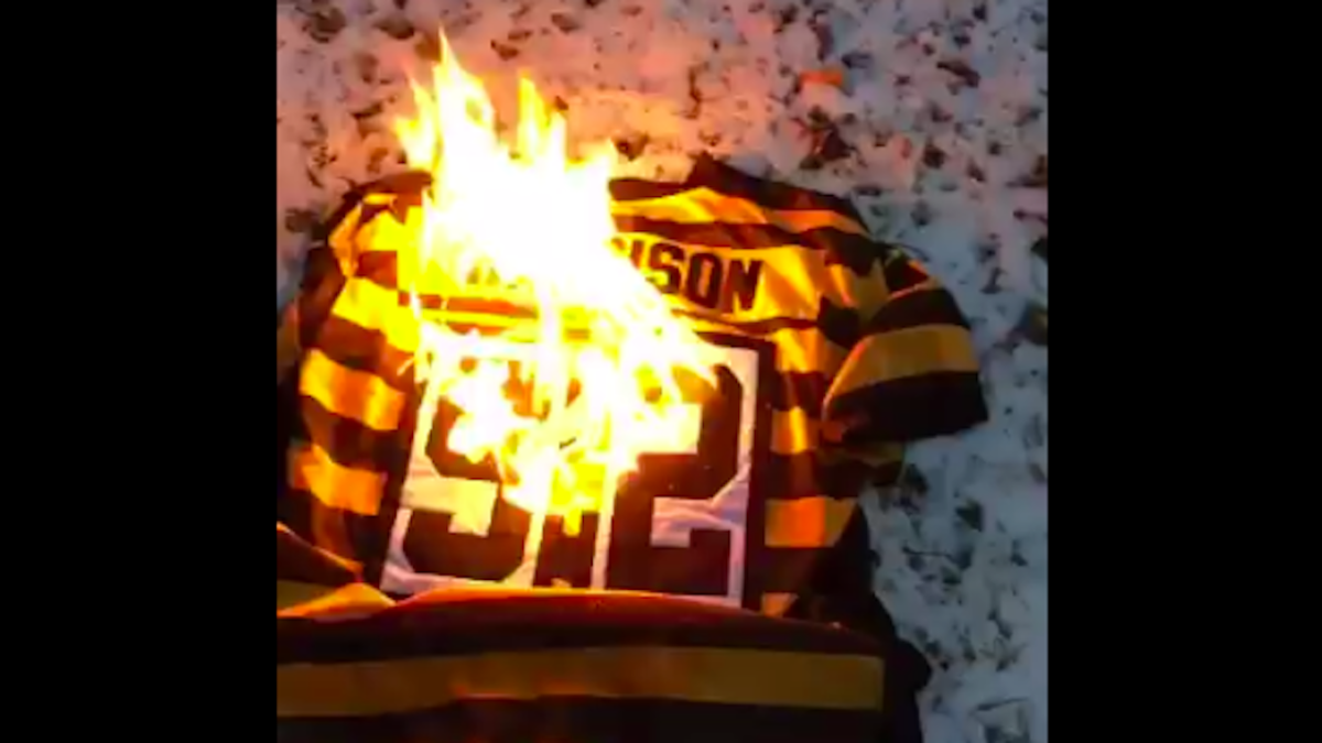 sports shoes e4a54 c4ec2 LOOK: Irate Steelers fans are burning and trashing their ...
