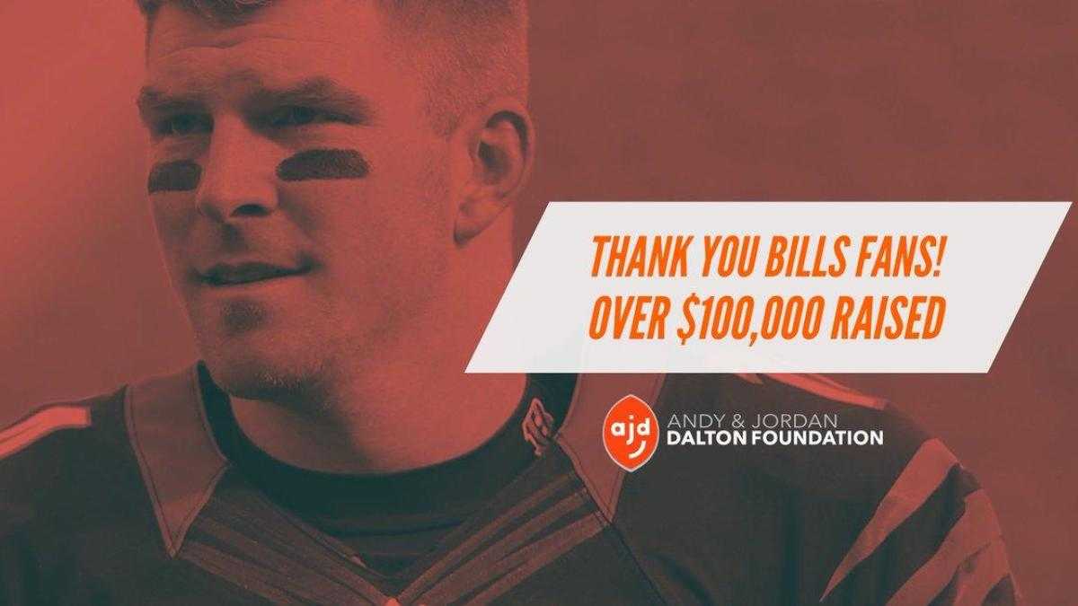 c15e0e56e Bills fans have donated an absurd amount of money to Andy Dalton's  foundation - CBSSports.com