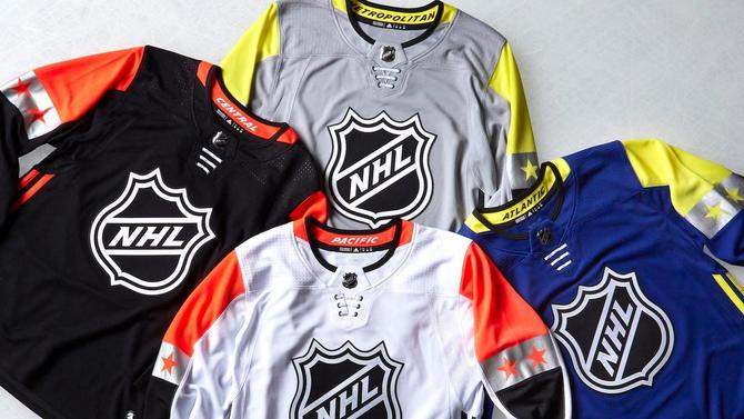 LOOK  NHL unveils futuristic 2018 All-Star Game uniforms - CBSSports.com 4efc2e026