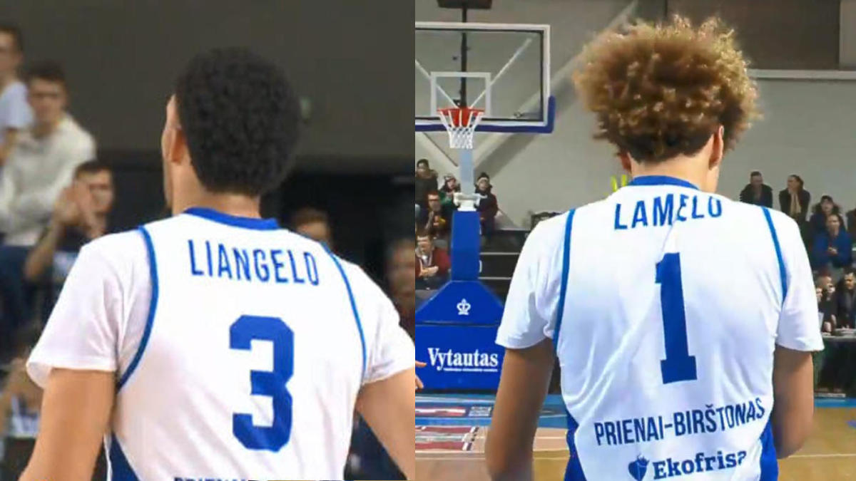 8c5b25fdd71 LiAngelo and LaMelo Ball make Lithuanian basketball debut: 6 strangest  takeaways - CBSSports.com