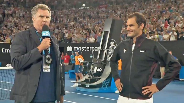 Image result for roger federer and will ferrell