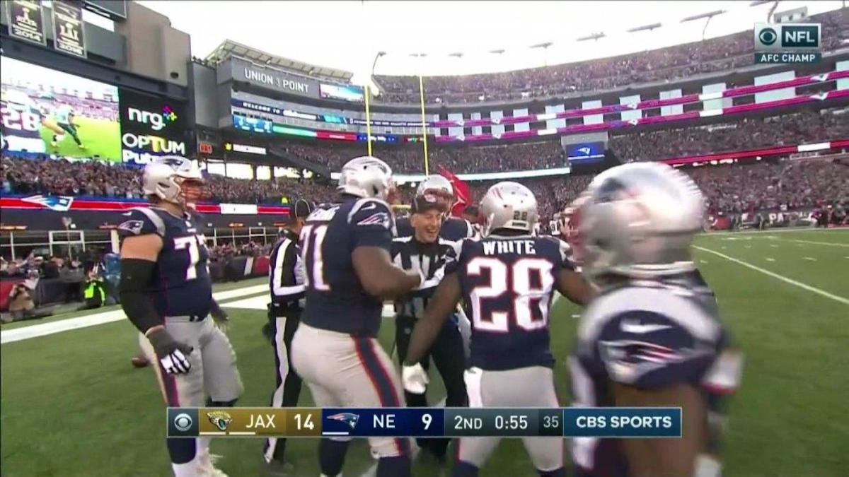 Everyone Thinks Officials Celebrated With Patriots Handed Them